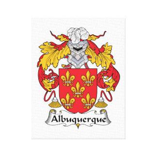 Escudo de la familia de Albuquerque Impresiones En Lienzo Estiradas
