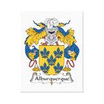 Escudo de la familia de Alburquerque Lienzo Envuelto Para Galerias