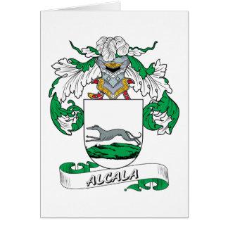 Escudo de la familia de Alcala Tarjeta De Felicitación