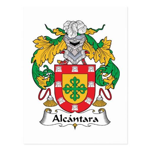 Escudo de la familia de Alcantara Postal