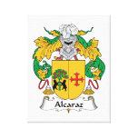 Escudo de la familia de Alcaraz Impresión De Lienzo