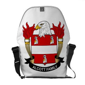 Escudo de la familia de Alcott Bolsa Messenger
