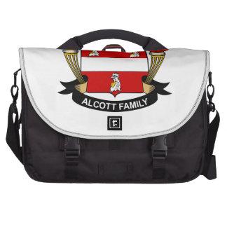Escudo de la familia de Alcott Bolsas Para Portatil