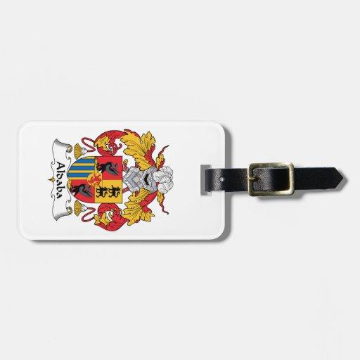 Escudo de la familia de Aldaba Etiquetas Maleta