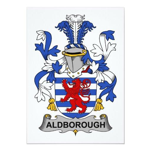 Escudo de la familia de Aldborough Invitación 12,7 X 17,8 Cm