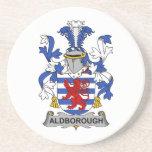 Escudo de la familia de Aldborough Posavasos Personalizados