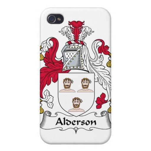 Escudo de la familia de Alderson iPhone 4 Fundas