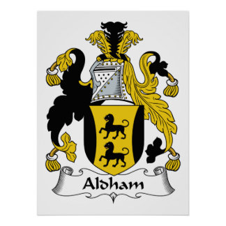 Escudo de la familia de Aldham Impresiones