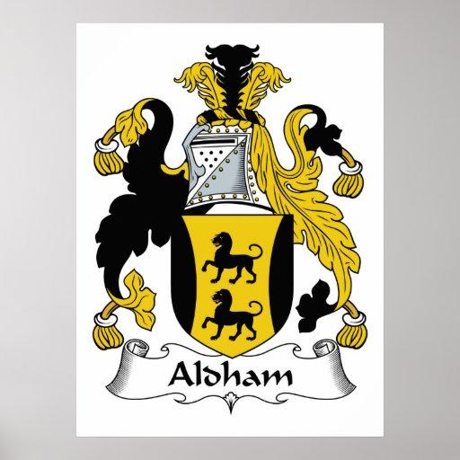 Escudo de la familia de Aldham Póster