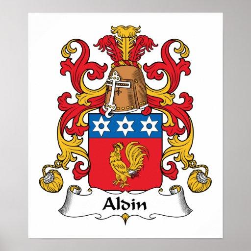 Escudo de la familia de Aldin Impresiones