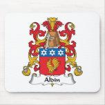 Escudo de la familia de Aldin Alfombrillas De Raton