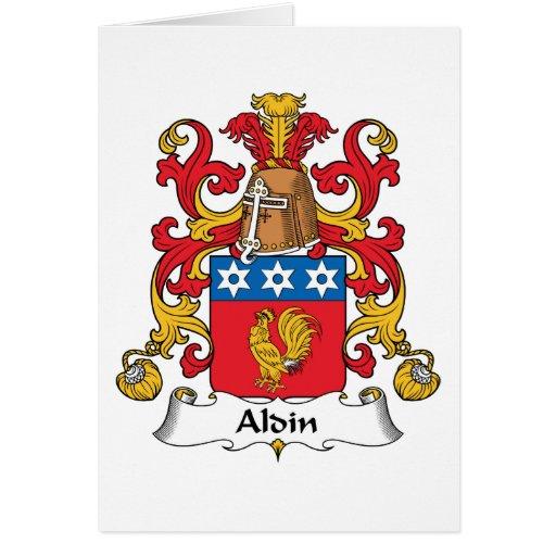 Escudo de la familia de Aldin Tarjetón