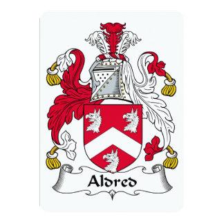 Escudo de la familia de Aldred Invitación 12,7 X 17,8 Cm