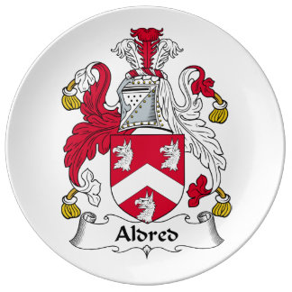 Escudo de la familia de Aldred Plato De Cerámica