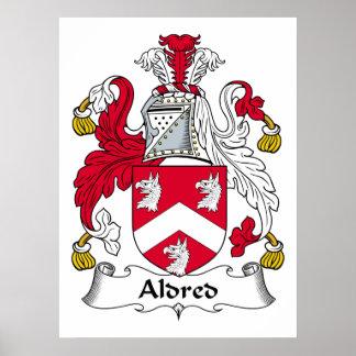 Escudo de la familia de Aldred Poster