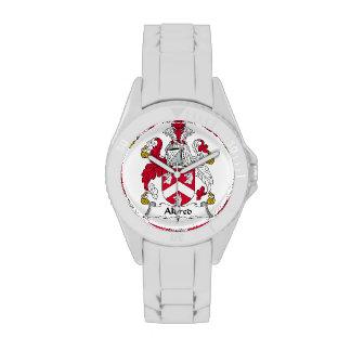 Escudo de la familia de Aldred Reloj