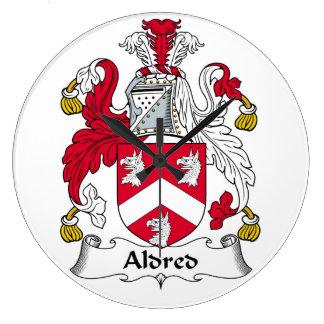 Escudo de la familia de Aldred Relojes De Pared