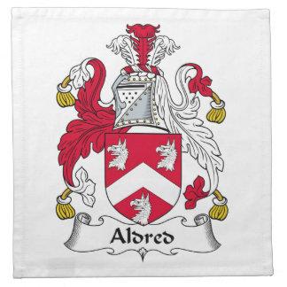 Escudo de la familia de Aldred Servilletas Imprimidas