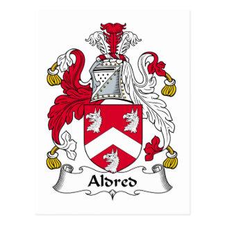 Escudo de la familia de Aldred Tarjeta Postal