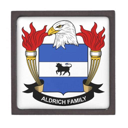 Escudo de la familia de Aldrich Cajas De Regalo De Calidad