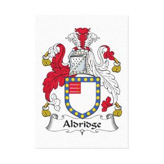 Escudo de la familia de Aldridge Lienzo Envuelto Para Galerias