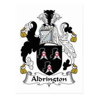 Escudo de la familia de Aldrington Tarjeta Postal