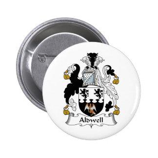 Escudo de la familia de Aldwell Pin Redondo 5 Cm