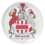 Escudo de la familia de Aldworth Plato De Comida