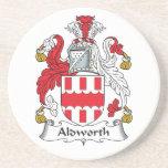 Escudo de la familia de Aldworth Posavasos Manualidades