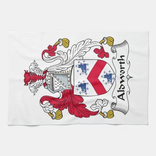 Escudo de la familia de Aldworth Toallas De Cocina