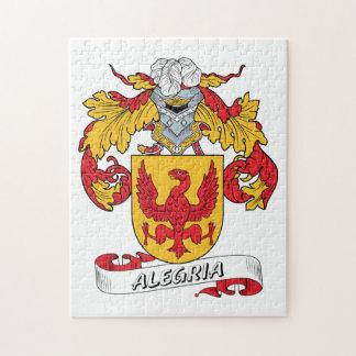 Escudo de la familia de Alegría Puzzle Con Fotos