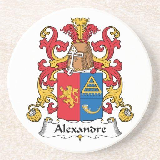 Escudo de la familia de Alejandro Posavasos Diseño