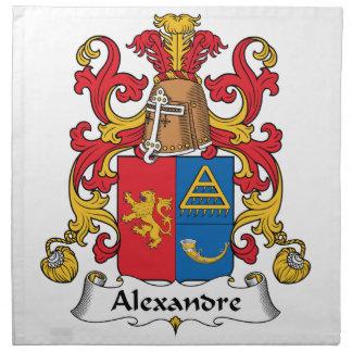 Escudo de la familia de Alejandro Servilletas Imprimidas