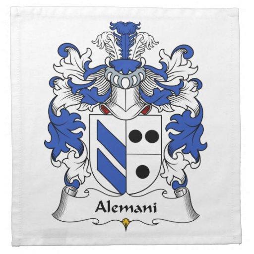 Escudo de la familia de Alemani Servilletas Imprimidas