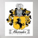 Escudo de la familia de Alessandro Poster