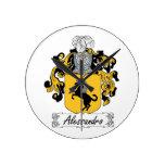Escudo de la familia de Alessandro Relojes De Pared