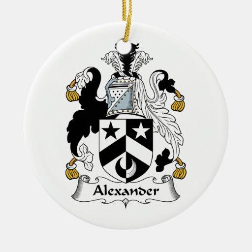Escudo de la familia de Alexander Adorno Navideño Redondo De Cerámica