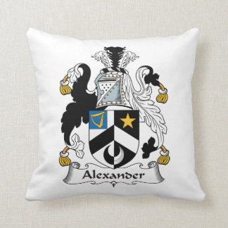 Escudo de la familia de Alexander Cojín Decorativo