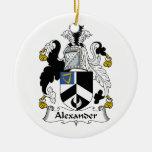 Escudo de la familia de Alexander Ornaments Para Arbol De Navidad