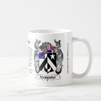 Escudo de la familia de Alexander en una taza