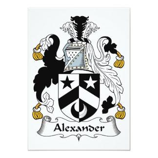 Escudo de la familia de Alexander Invitación 12,7 X 17,8 Cm