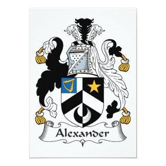 """Escudo de la familia de Alexander Invitación 5"""" X 7"""""""