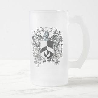 Escudo de la familia de Alexander Jarra De Cerveza Esmerilada
