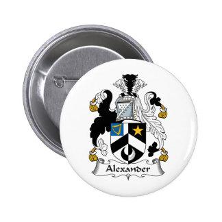 Escudo de la familia de Alexander Pin Redondo 5 Cm