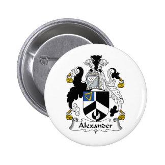 Escudo de la familia de Alexander Pin Redondo De 2 Pulgadas