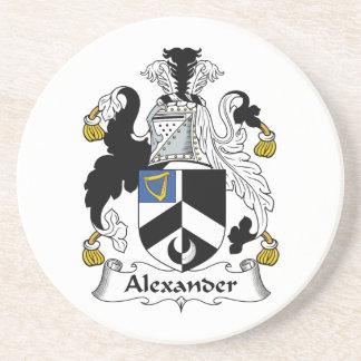 Escudo de la familia de Alexander Posavasos Personalizados