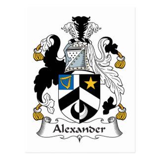 Escudo de la familia de Alexander Postales