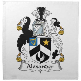 Escudo de la familia de Alexander Servilletas
