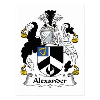 Escudo de la familia de Alexander Tarjeta Postal