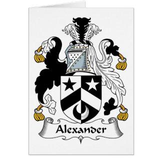 Escudo de la familia de Alexander Tarjetón